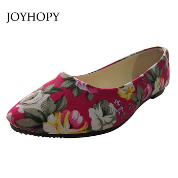 ABB Colorful Printing Women Flats Lady Rose Pointed Toe Slip-On Canvas Loafers Shoes Plus Size 40 41 42 Female Casual Flat Shoes slip-on shoe