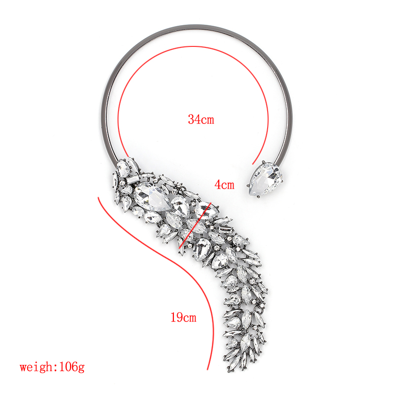 5 Colors Elegant Crystal bijoux Choker Necklace Torques for women Party Evening Luxury JURAN Fashion Jewelry Accessories