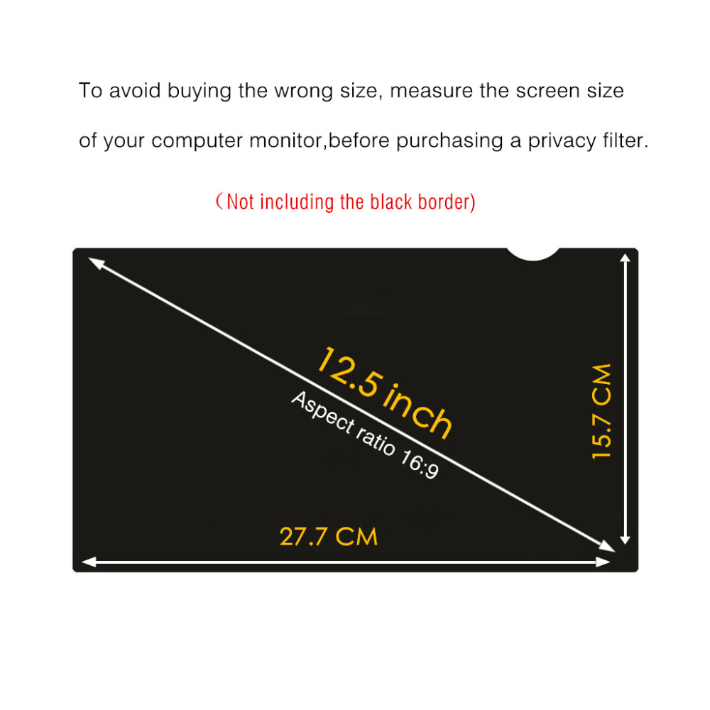 13.3 Inch 16:9 Aspect Ratio Anti-Scratch Protector Film for data confidentiality Yoght Widescreen Laptops Notebook Computer Monitor Privacy Screen Filter Anti-Glare Diagonally Measured