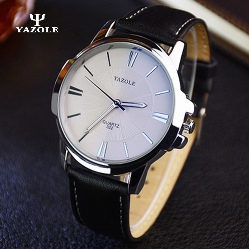 Relogio Masculino YAZOLE Mens Watches Top Brand Luxury Watches Business Male Clock Stainless Steel Quartz Watch Quartz-watch A