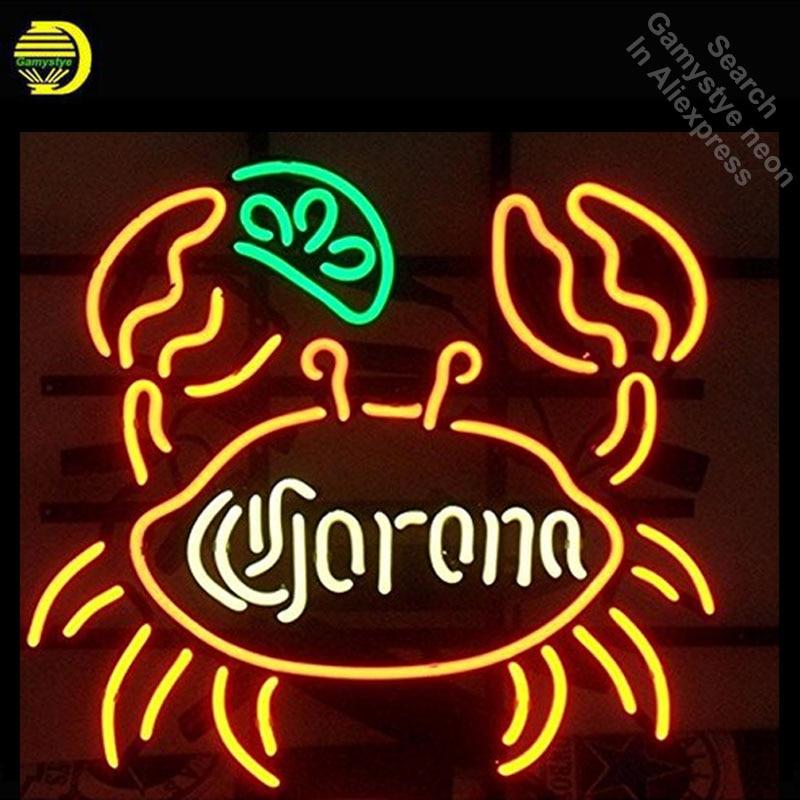 Corona Crab neon Sign Glass Tube neon lights Brand LOGO Recreation Coffee Windows Professiona Iconic Sign Advertise Motel SignCorona Crab neon Sign Glass Tube neon lights Brand LOGO Recreation Coffee Windows Professiona Iconic Sign Advertise Motel Sign