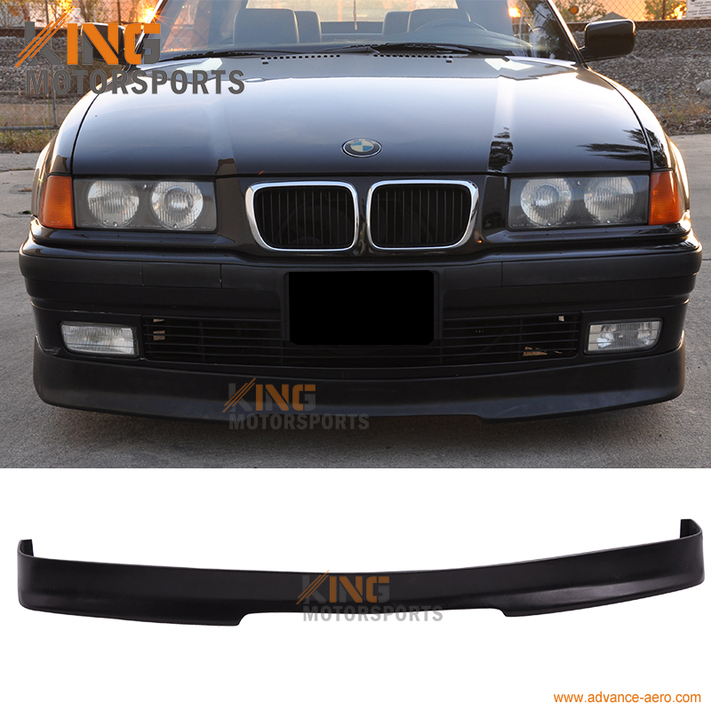 For 1992 1993 1994 1995 1996 1997 1998 BMW E36 3-Series PU IKON Front Bumper Lip Spoiler PU