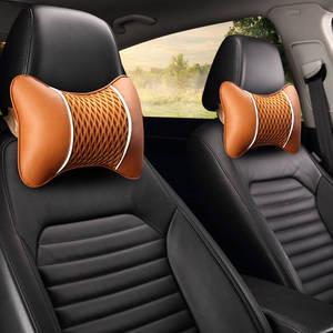 Image 2 - רכב כרית רכב משענת ראש צוואר כרית קרח משי צוואר הרחם כרית מכונית מושב עור צוואר כריות כרית זוג של ארבע עונות