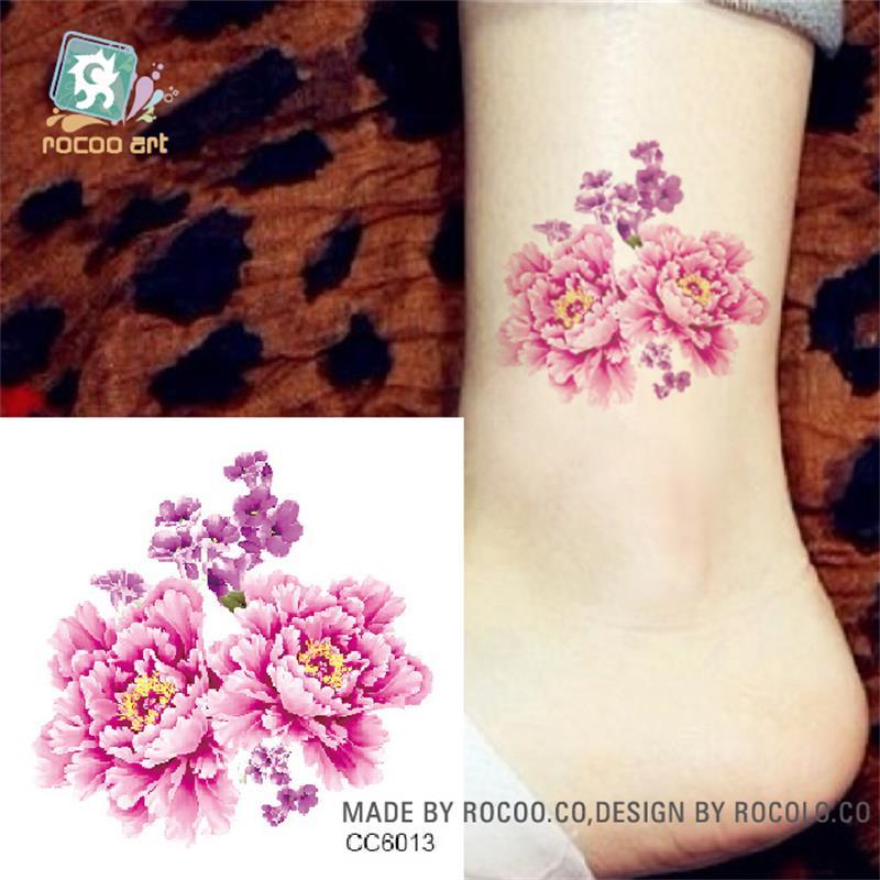 DIY 3D Mini Body Art Waterproof Temporary Tattoos For Women Beauty Flower Design Flash Tattoo Sticker CC6013