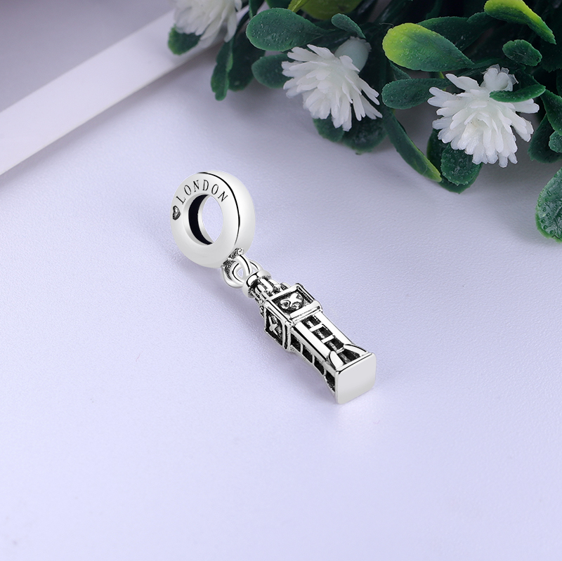 3D 925 Sterling Silver Charms London England BIG BEN Charm