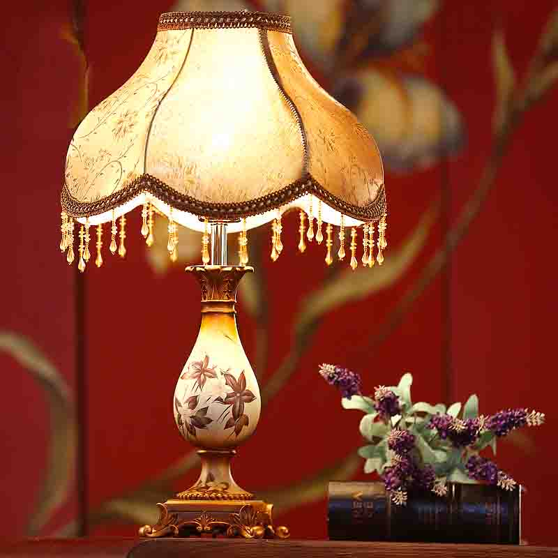 Traditional LED Table Lamp Resin Lamp E27 220v 110v For Bedroom Hotel Villa Company Gift Vintage Lighting