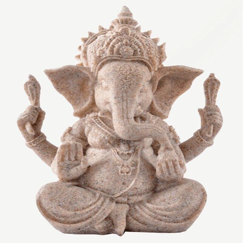 Livraison gratuite résine naturelle grès artisanat, la statue de l'asie du sud-est, l'éléphant indien nez dieu de la richesse