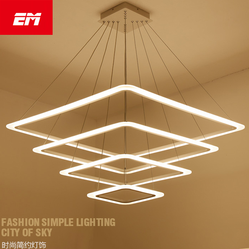 Lights & Lighting Responsible Led Ceiling Lights Modern Acrylic Square Led Hanging Lamp Ac90-260v Home Lighting Indoor Kitchen Ceiling Light Fixture Zzx0006 Rich In Poetic And Pictorial Splendor