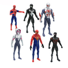 18 см фильм Человек-паук возвращение домой Гвен Стейси Человек-паук женщина Человек-паук со светодиодным светильник мультфильм игрушка фигурка Модель Кукла подарок
