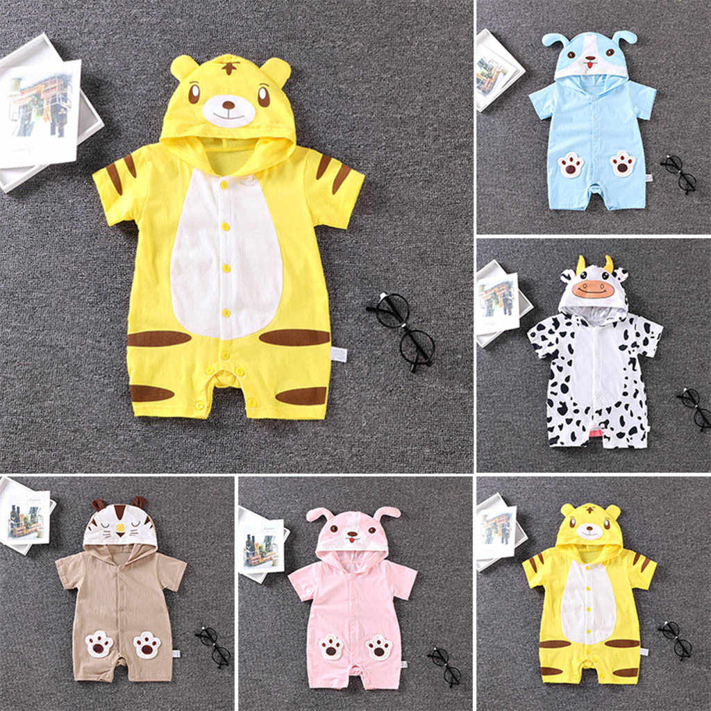 Newborn Infant Kids Clothes Cartoon Animal Pattern Romper Jumpsuit Girls Clothing Set Baby boys Clothes Newborn clothes C626