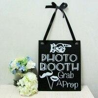 1pcs Photo Booth Wedding Engagement Hanging Sign Props Black White Retro 30 X 25 Cm 11