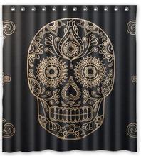 Customized Day Dead Sugar Skull Waterproof Fabric 180x180cm