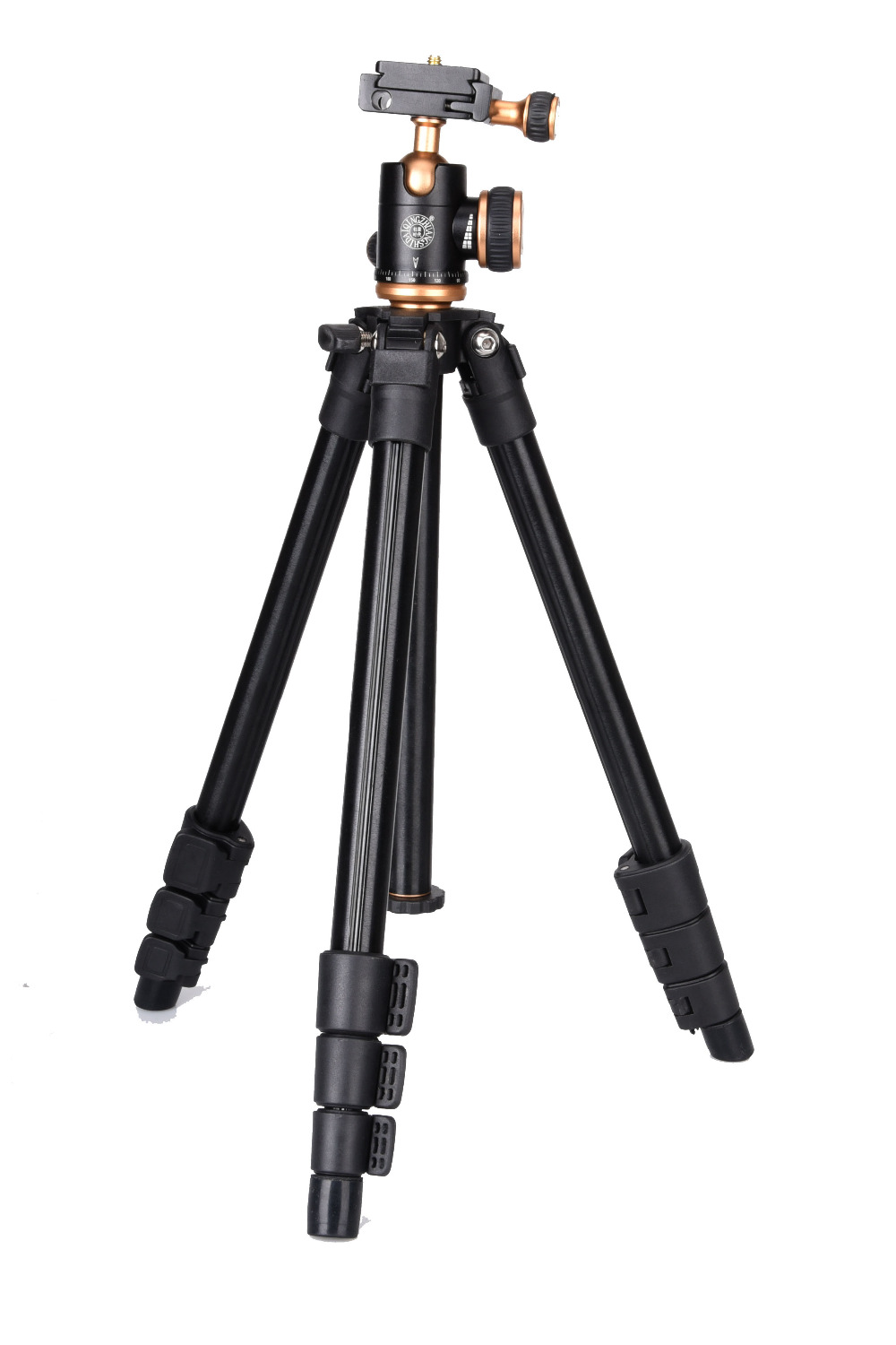 QZSD-Q160S Lightweight Camera Tripod With Multifunctional Ball Head For Canon Nikon Sony DV SLR DSLR Portable Compact Tripod qzsd q668 portable camera tripod with ball head