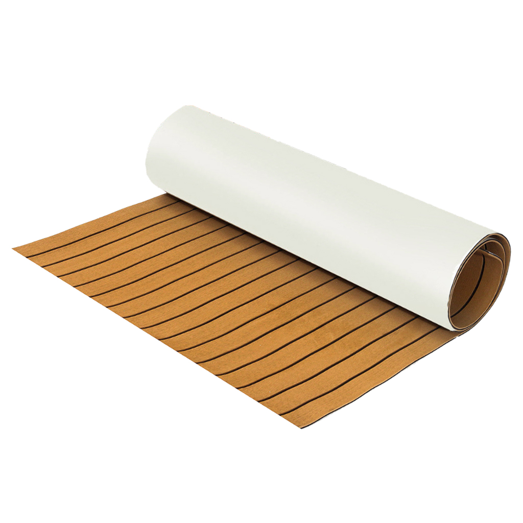 Teak Sheet 240cm x 60cm x6mm Marine Floor EVA Foam Boat Sheet Teak Decking Self-Adhesive Mat