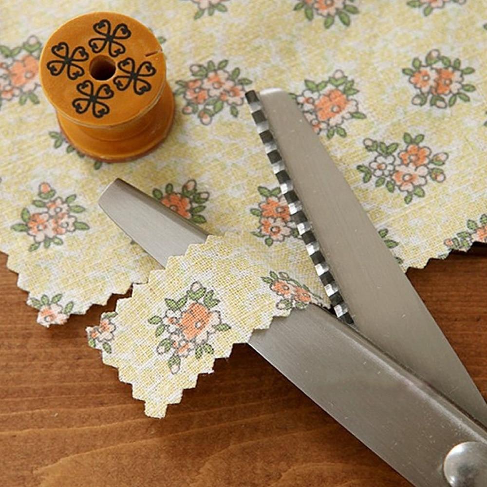 Artesanías de costura profesional Acero inoxidable Plata Tijeras para el hogar Tijeras para teñir Zagorías Zag para maquinar Tijeras para coser Zig