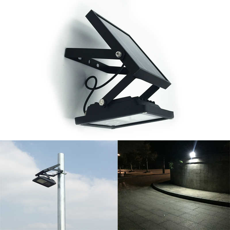 Todo Metal IP65 impermeable 24LED Solar LED Luz de inundación Auto ON/OFF luz exterior para jardín patio lámpara de pared 3 Modo de potencia