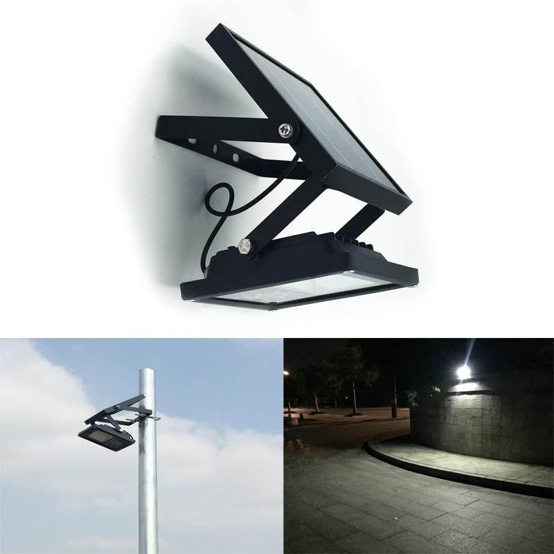 Все металлические IP65 водонепроницаемый 24LED Солнечный свет потока автоматического включения/off открытый свет для сада Двор Настенный светильник 3 Режим питания