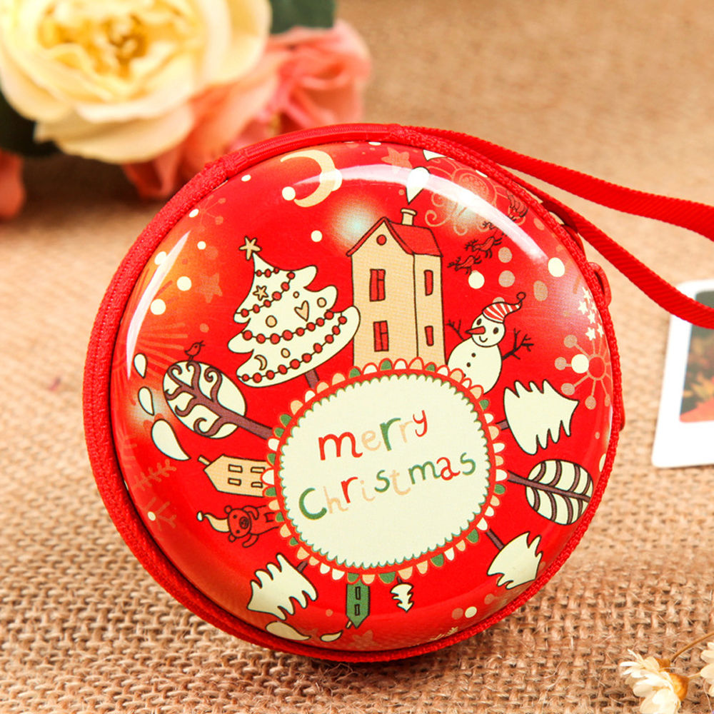 Christmas Coin Purse Key Pouch Earphone Bags Pouch Zip Small Wallet Xmas New аквабокс aquapac small stormproof pouch orange 036 page 3