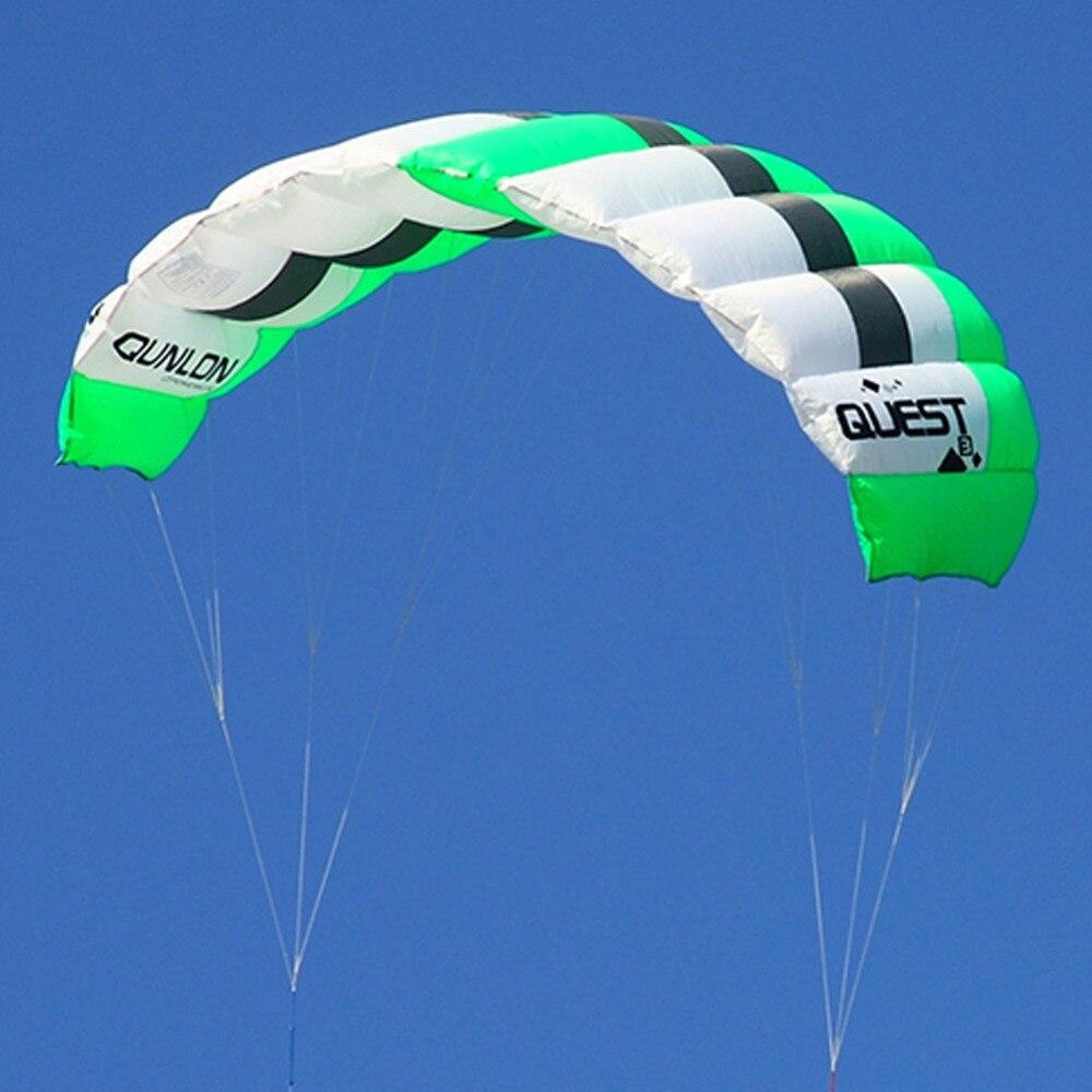 2sqm cascadeur cerf-volant double ligne Traction cerf-volant volant pour kitesurf kitesurf entraînement débutant