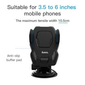 Image 5 - HOCO uchwyt samochodowy do montażu na szybie do Samsung S9 S8 Plus 360 obrót uchwyt samochodowy do iPhone XS 8 Huawei uchwyt stojak na telefon