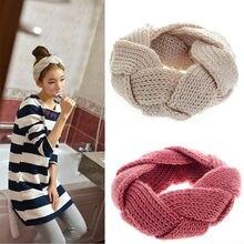 200 pcs Crochet Torção Malha Headwrap headband Winter Warmer Faixa de Cabelo para As Mulheres Acessórios de vestuário