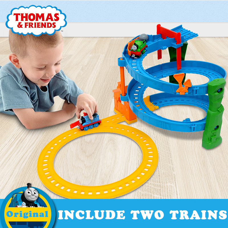 New Thomas & Friends Car Toy Building Train Railway Interesting Track Set Percy and James Brinquedos For Children Birthday Gift
