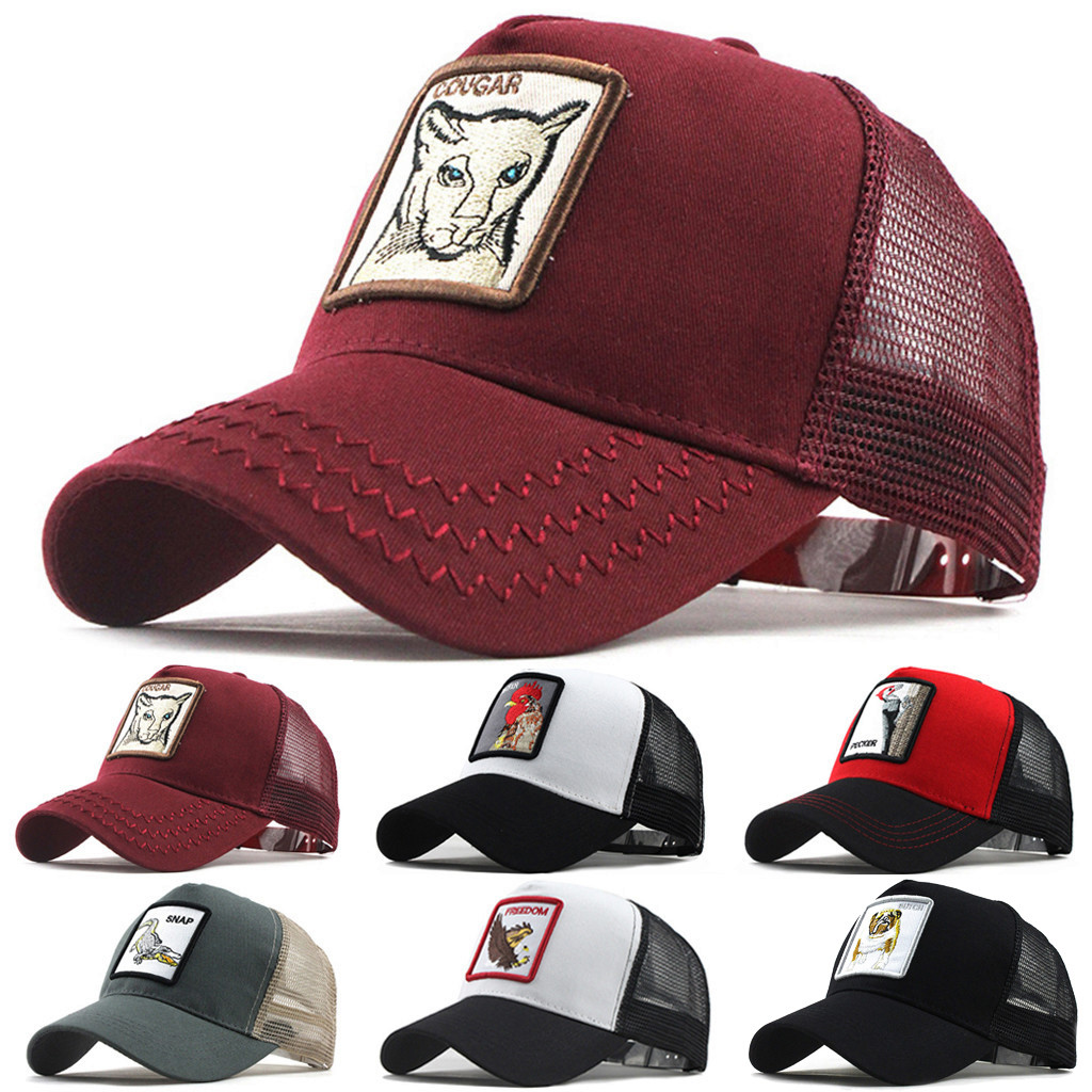 Fashion Baseball Cap Women Men Summer Cap Man Hat Unisex Outdoor Cotton  Cap Animal Embroidered Adjustable Beach Hats Caps