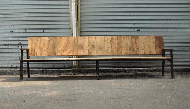 Bancos del parque, madera de hierro forjado exterior sillón sillas ...