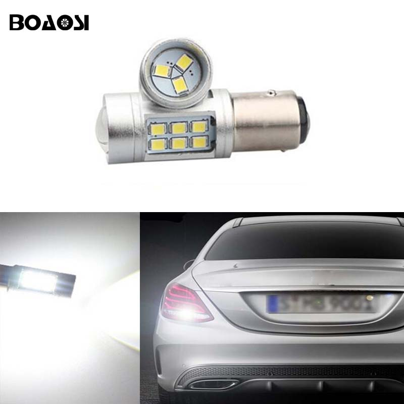 BOAOSI 1x 1156 LED Auto Light Source Tail Reverse Backup Brake Lamp Bulb For Mercedes Benz W204 C300 C260 C200 C63 C230 C280 kein 1pc high power s25 1156 ba15s 80w p21w for xbd led reverse light backup led reverse lamp sourcing light dc12 24v new