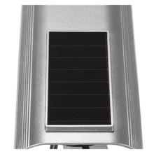 MOOL 2X Quality Solar Powered Dummy Surveillance Red LED Light Security CCTV Camera Silver