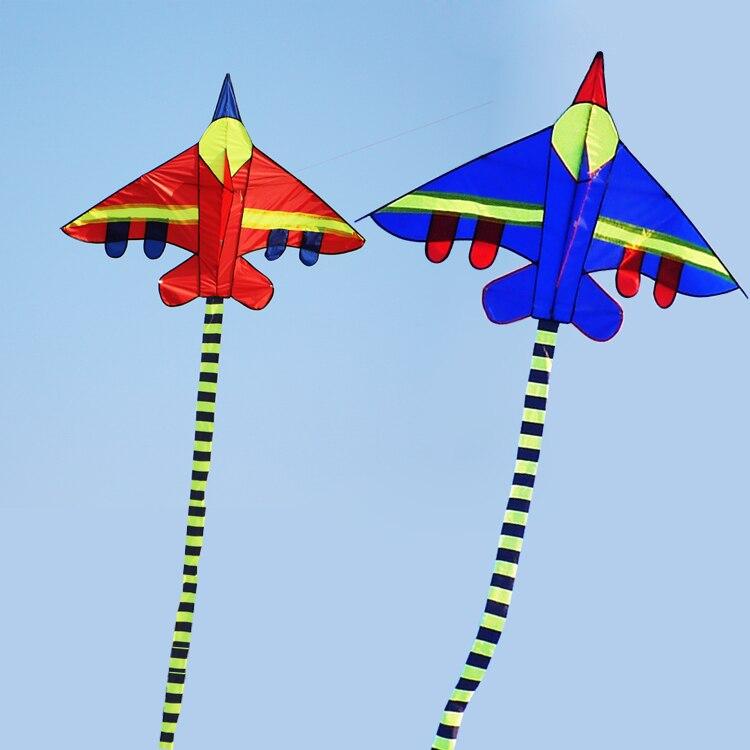 Livraison gratuite de haute qualité avion cerf-volant en gros nylon ripstop combattant cerf-volant avec poignée ligne jouets de plein air wei cerf-volant avion elf