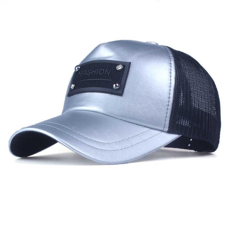 Xthree 5 панелей модные для мужчин искусственная кожа бейсбол кепки женщин Летняя сетчатая Кепка snapback шляпа для девочек bone gorras
