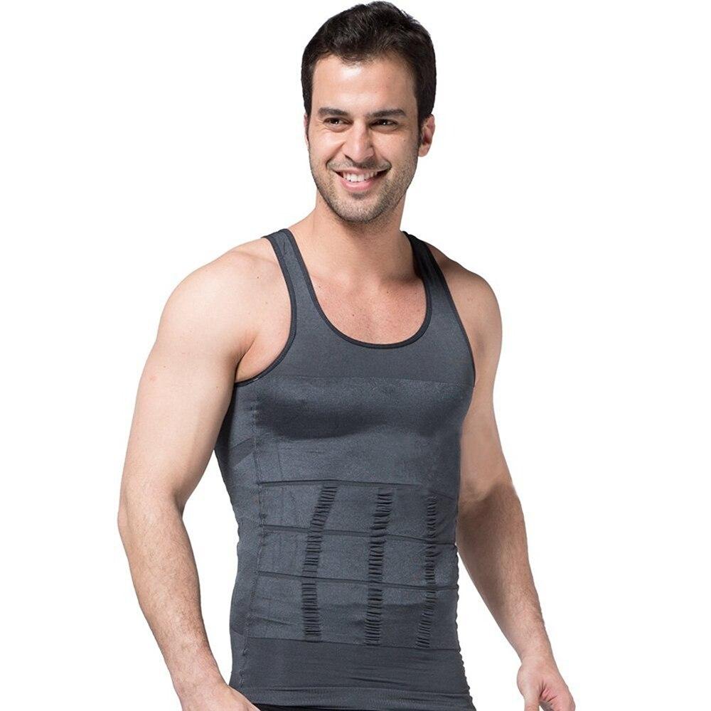 Hot Sale ZEROBODYS Body Shaper For Men Slimming Shirt Vest font b Weight b font font