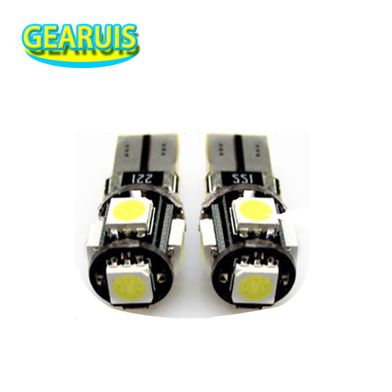 HK Post 100X Car Auto LED T10 194 168 W5W Canbus NO Error 5 SMD 5050 5SMD LED Wedge Light Bulb Lamp White Blue Red Yellow DC 12V 50pcs high quality white t10 13 smd 5050 13led 13smd 194 168 192 auto car side light bulb 194 168 w5w led wedge lamp 12v