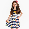 Girls Dresses Summer 2016 Designer Princess Dress Girl Clothes Watermelon Pattern Baby Girl Party Dress Kids Costume Robe Fille