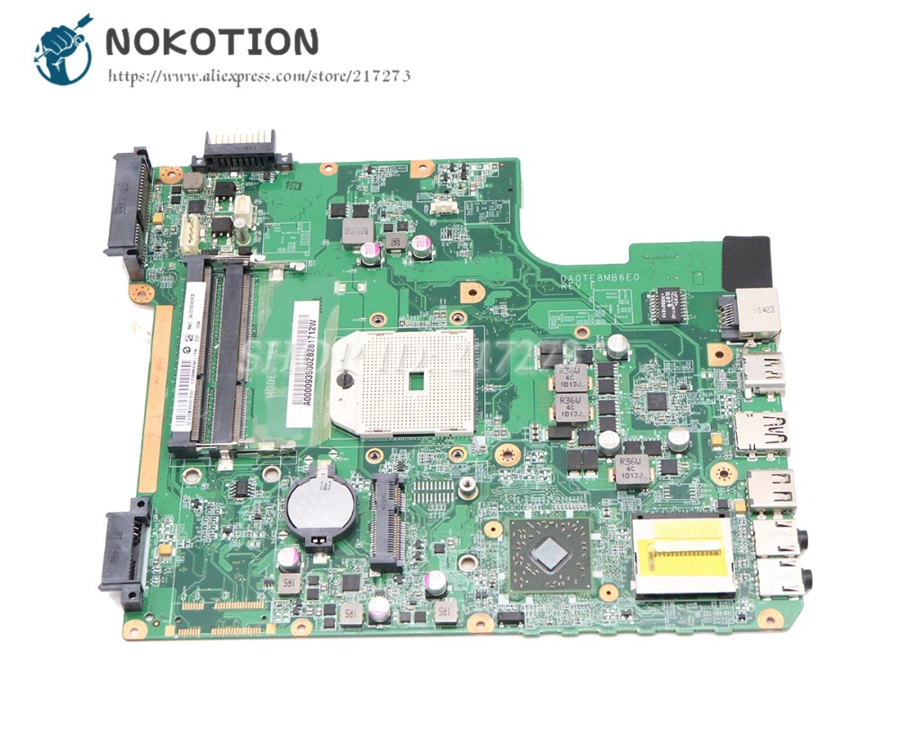 NOKOTION Pour Toshiba Satellite L745 L745D Mère D'ordinateur Portable DDR3 Prise FS1 A000093500 DA0TE8MB6E0