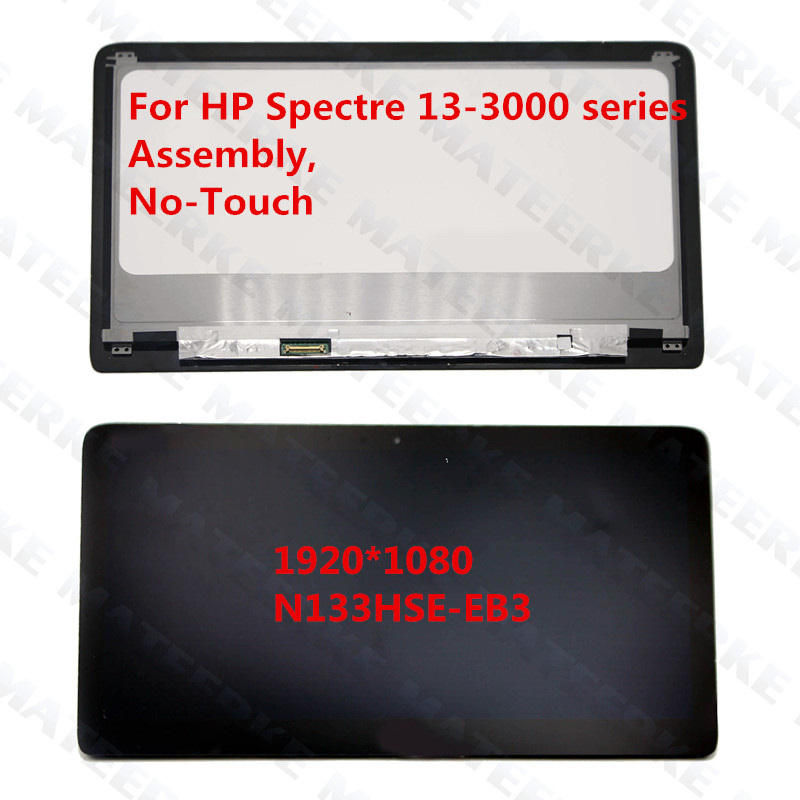 цены 13.3'' For HP Spectre 13-3000 Series 13T-3000 series LCD Assembly (NO Touch) Replacements 1920*1080 N133HSE-EB3