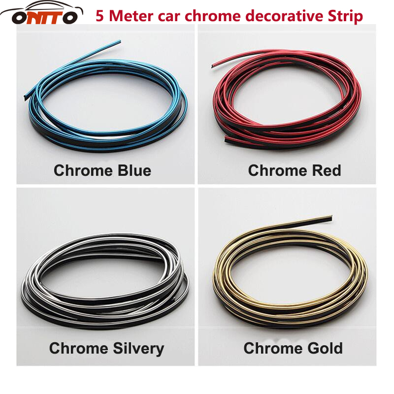 4 Colors 5m/lot Car-Styling Universal DIY chrome Line Flexible Interior Decoration Moulding Trim Strips Car Styling Accessories colorado rapids at vancouver whitecaps