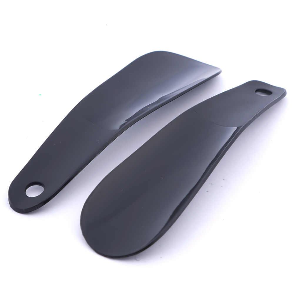 2 piezas de plástico profesional shoecuerno cuchara zapatos levantador portátil cuchara zapato cuerno accesorios prácticos para zapatos de mujer