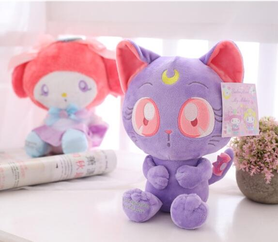 candice guo! cute plush toy sailor moon Luna cat sweet melody stuffed toy doll pendant children girls birthday Christmas gift 1p 6pcs plants vs zombies plush toys 30cm plush game toy for children birthday gift