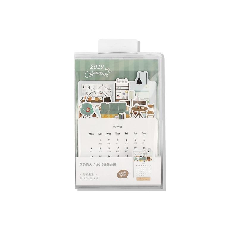 Calendario Bosque Magico 2019.3 6 Aliexpress Com Comprar 2019 Precioso Bosque De Flores Mini Calendario De Papel De Escritorio Lista Diaria Planificador De Mesa Anual Agenda