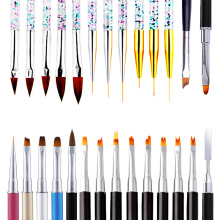 Nail Brush Set Dotting Pen Kit for Nail Design Acrylic Drawing Pen French Style Brushes Nail Art Brushes For Manicure Tool NBP wholesale 5pcs 100% kolinsky sable 16 pen red wood acrylic brush for nail art nail art manicure tool acrylic nail brushes