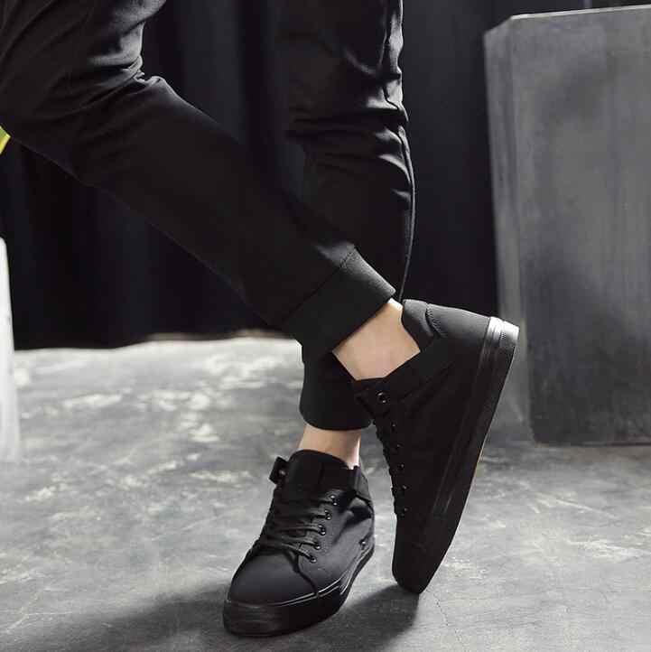 XEK Nova Chegada 2018 Dos Homens de Alta Qualidade Apartamentos Sapatos Da Moda Respirável Homens Sapatas de Lona Ocasionais Zapatos Hombre Mens Flats wyq50