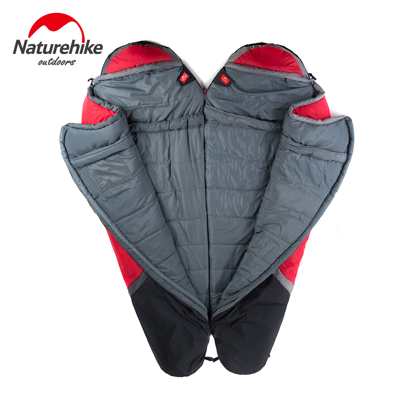 NatureHike NH15S001 S зимний спальный мешок Мумия для кемпинга пешего туризма путешествия можно молнии вместе - 4