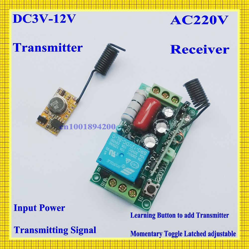 DC3V-DC12V 3V 5V 9V 12V Mini RF Transmitter Module for Sensor Detector Inductor with Receiver AC220V 10A 100-300m Transmitter dc3v dc12v 3v 5v 9v 12v mini rf transmitter module for sensor detector inductor with receiver ac220v 10a 100 300m transmitter