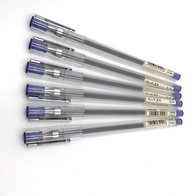 0.5mm Full Needle Gel Pens Fashion Simple Office and School Supplies Cute Gel Ink Pens Signature Pens 10lots 12pcs/lot
