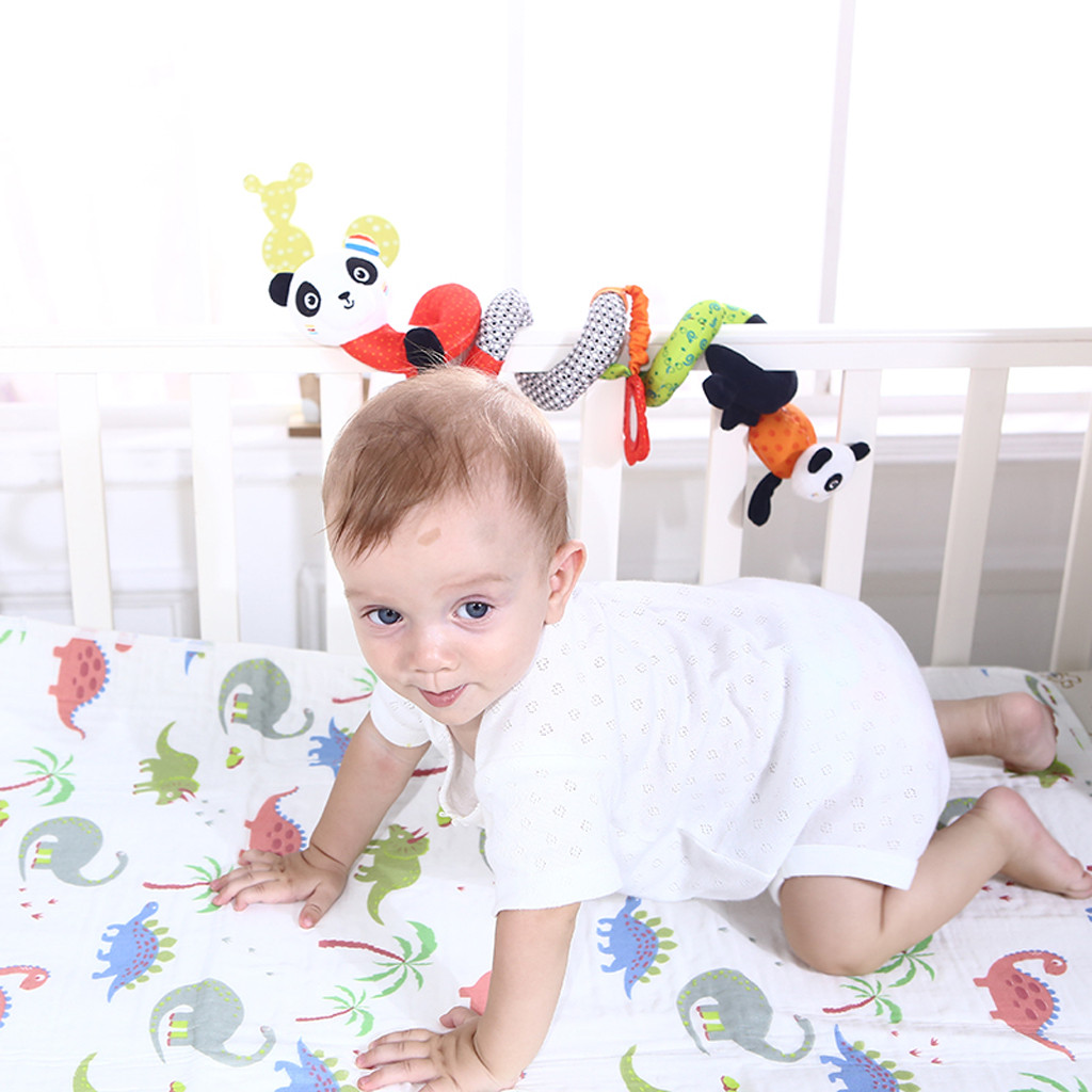 Soft Infant Crib Bed Stroller Toy Spiral Baby Doll For Newborns Car Seat Early Educational Rattle Lion Baby Towel Education Toys