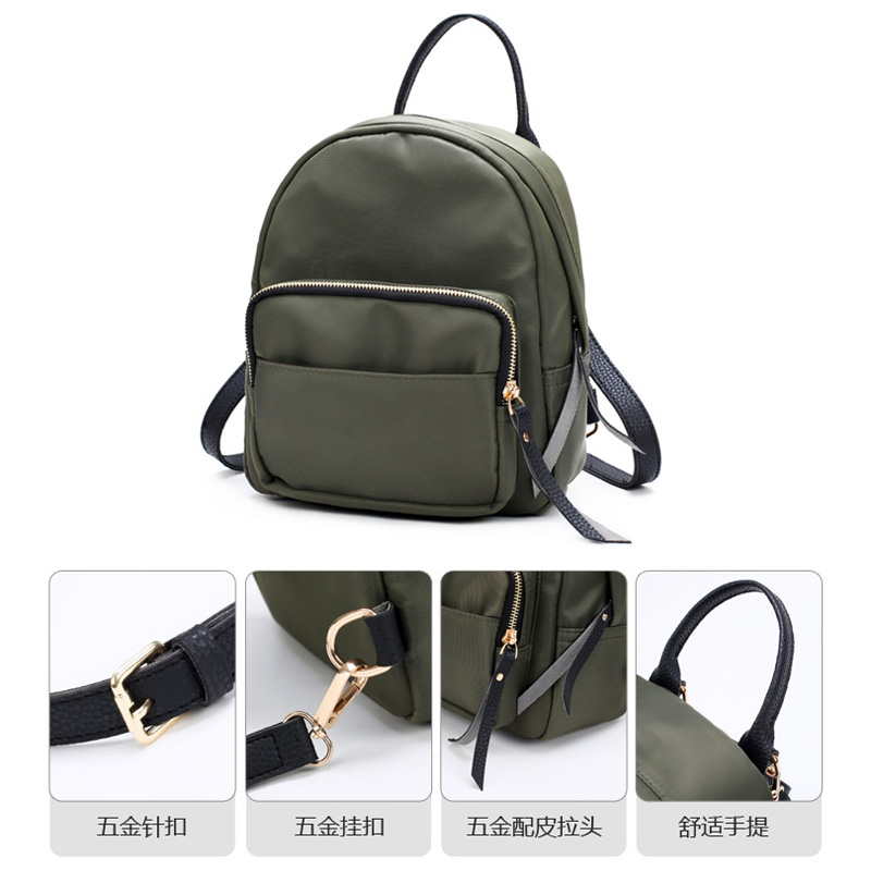 Doranmi Oxford Small Backpack For Women School Backpacks Plaid Mini Casual Daypack Feminine Mochila Camouflage School Bag Sjb213 #6