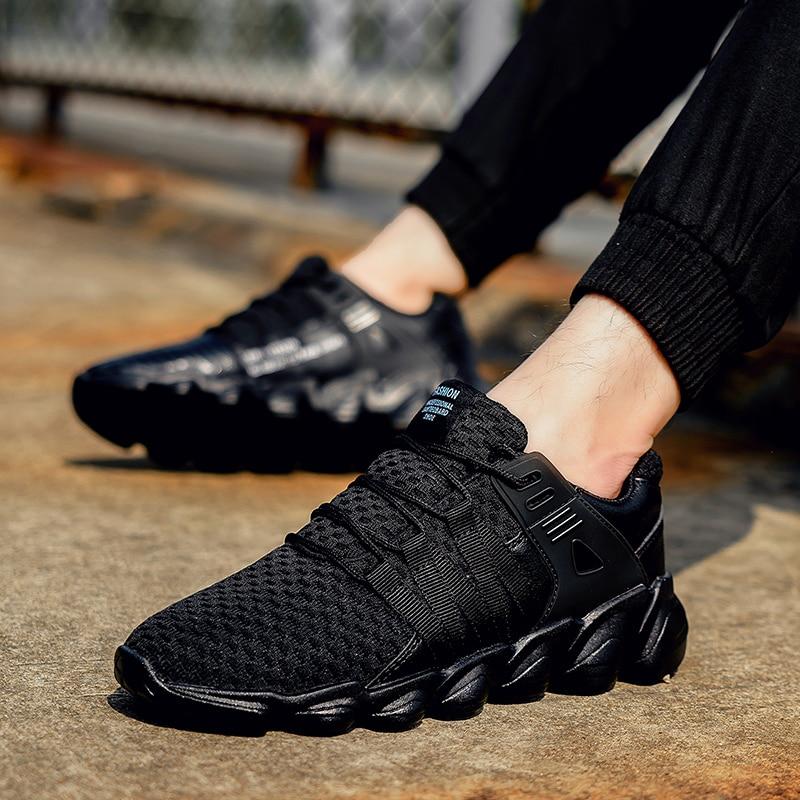 Outono Alta Homens Novos Moda cinza branco Sapatos Grande Confortável Tênis Preto Juventude Lazer E De Respirável Primavera Calçado Maré Qualidade Tamanho vgngqwEXB