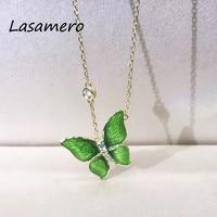 LASAMERO Halo 0 072CT Round Cut Center Diamond Pave Set 18k Gold Natural Diamond Pendant Necklace